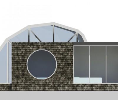 """PROGETTO """"@HOME"""": Abitazione Blockbau ad arco asimmetrico"""